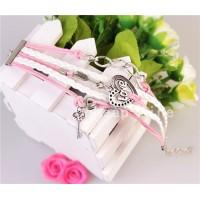 Armband kärlek med hjärta, lås och nyckel