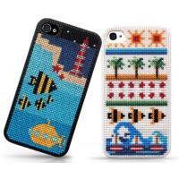 iPhone 4/5 skal med korsstygnsmönster